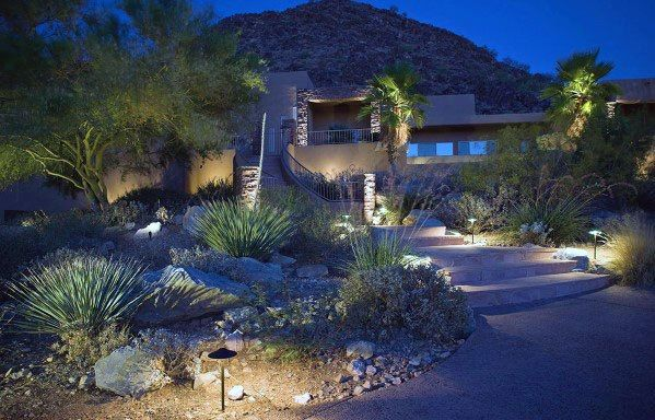 Top 70 Best Landscape Lighting Ideas Front And Backyard Illumination In 2020 Outdoor Landscape Lighting Kichler Landscape Lighting Outdoor Path Lighting