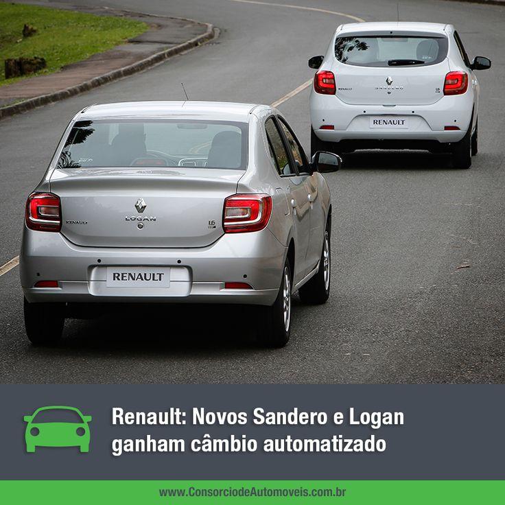 Para oferecer ainda mais tecnologia e conforto para seus clientes, a Renault do Brasil lançou nos últimos dias uma ótima novidade para seus modelos Novo Sandero e Novo Logan. Veja na matéria: https://www.consorciodeautomoveis.com.br/noticias/renault-sandero-e-logan-ganham-cambio-automatizado?idcampanha=206&utm_source=Pinterest&utm_medium=Perfil&utm_campaign=redessociais