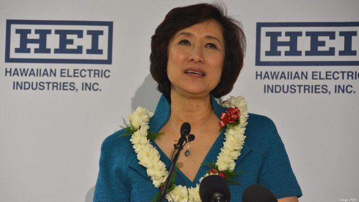 Connie Lau, president and CEO of Hawaiian Electric Industries Inc. made $5.6M i 2014. In contrast, NextEra President and CEO Jim Robo, chairman received about $12.2 million in total compensation in 2014.