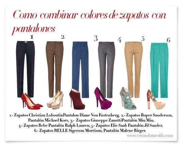 Como combinar colores de zapatos con pantalones