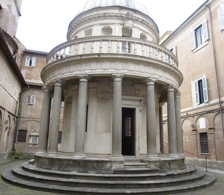 Tempieto di San Pietro in Montorio - Little temple inmonastery on the western ceast of the river Tibera. It was built by renaissance architect Donato Bramante