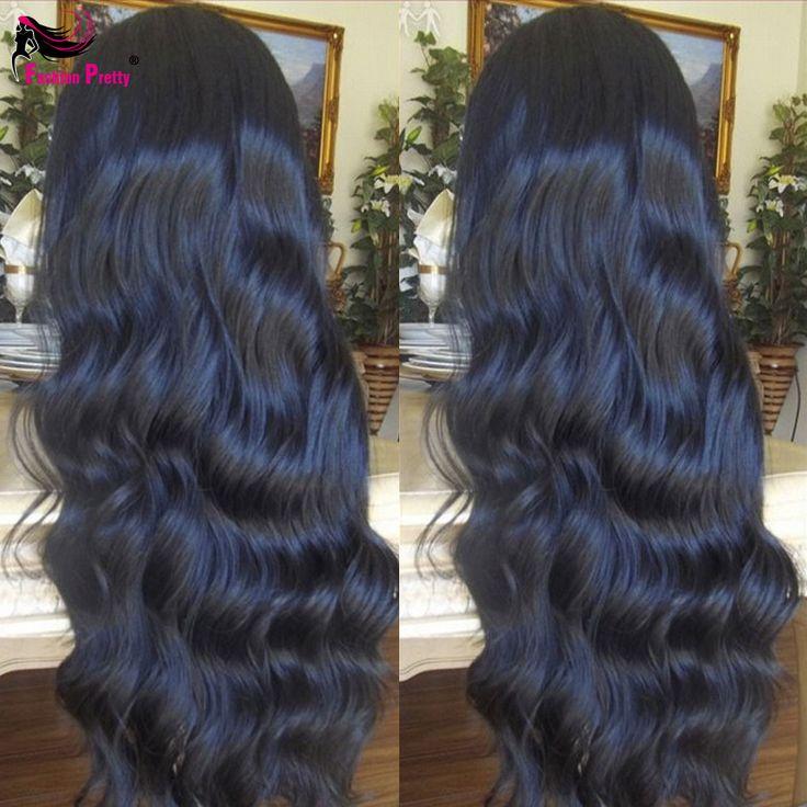 フロントレースかつら実体波フルレース人間の髪の毛のかつら黒人女性インドバージン毛かつらグルーレスレースフロント人間の髪かつら