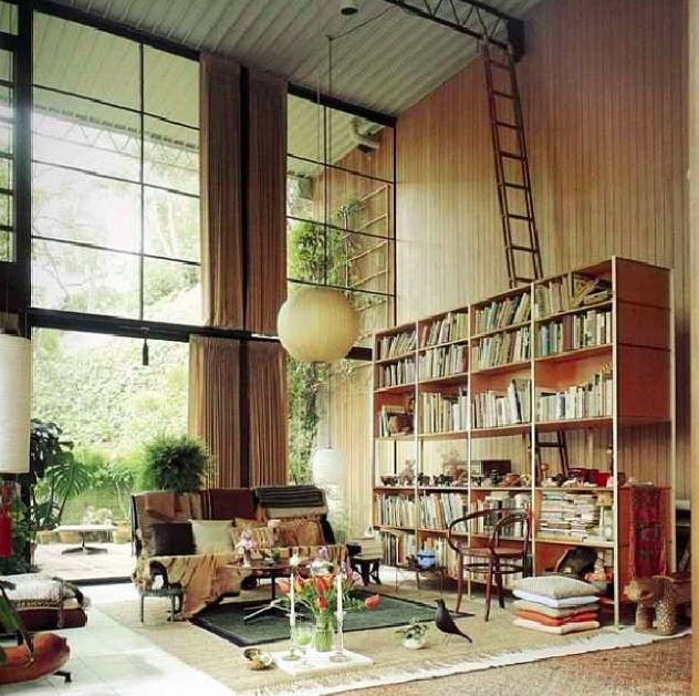 living room in the eames house charles and ray eames