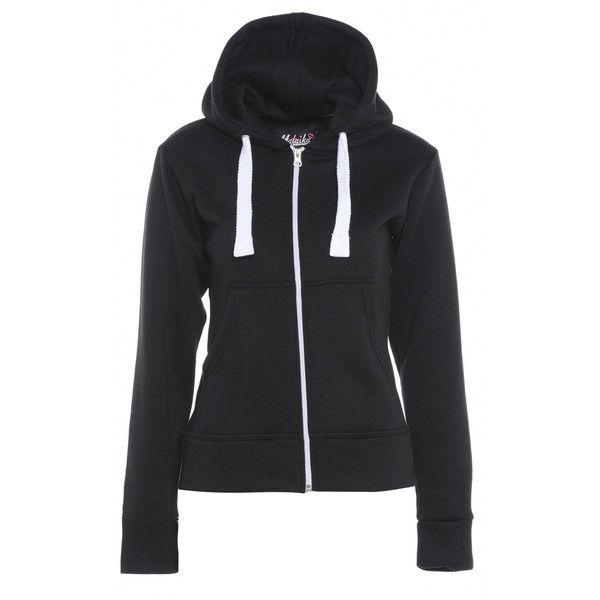 AX Paris Plain Black Hoody (£15) ❤ liked on Polyvore featuring tops, hoodies, black, casacos, jackets, black hooded sweatshirt, hooded sweatshirt, black hoodie, black hoodies and sweatshirts hoodies