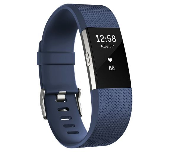 Buy Fitbit Charge 2 Heart Rate + Fitness Band Blue - Large at Argos.co.uk, visit Argos.co.uk to shop online for Smart watches, Mobile phones and accessories, Technology