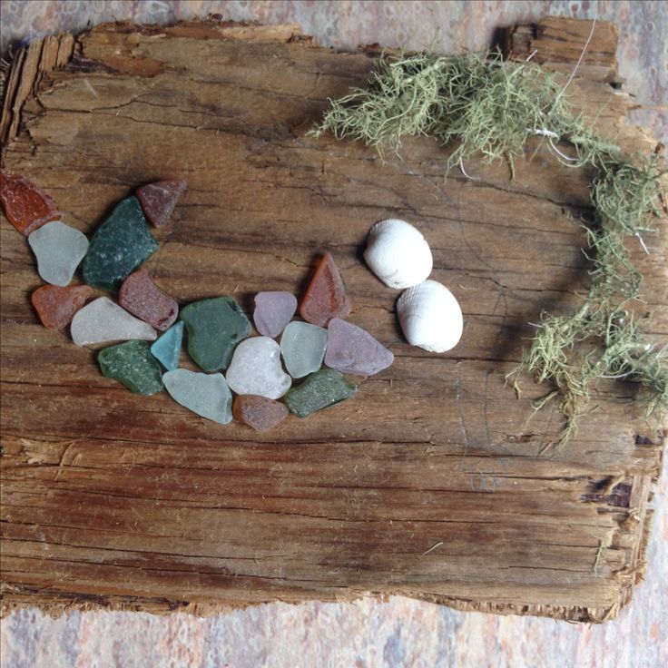 DIY mermaid craft from things found on the beach