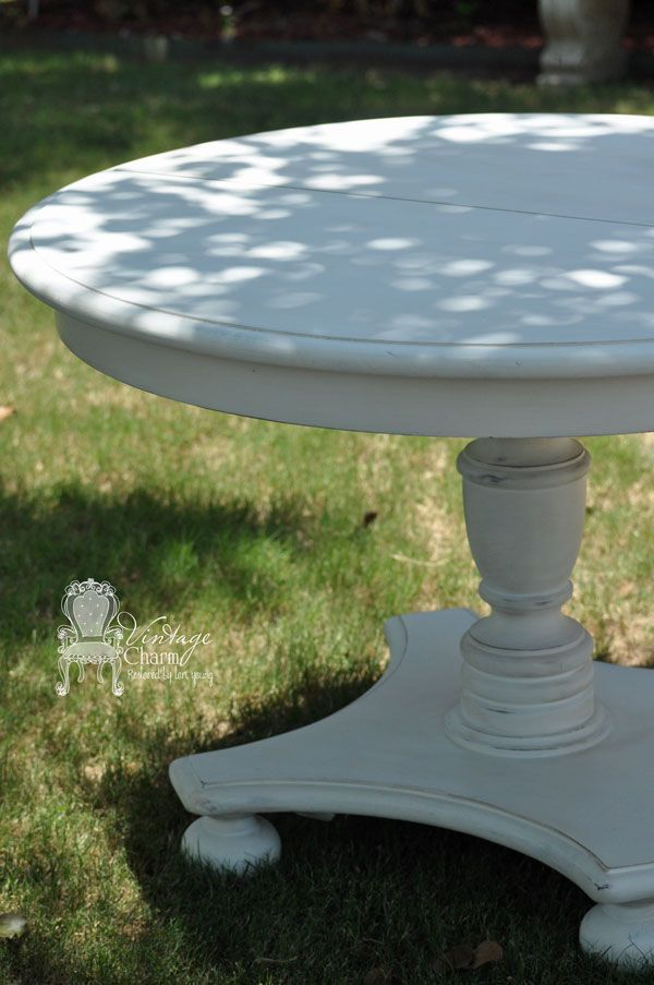Painted White Pedestal Dining Table