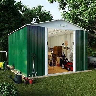 Archer #metal #garden shed | apex roof #storage shed including foundation kit,  View more on the LINK: 	http://www.zeppy.io/product/gb/2/351622006107/