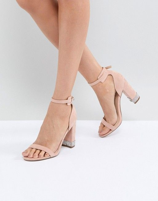 5538d89779c Office Hip Blush Embellished Block Heeled Sandals