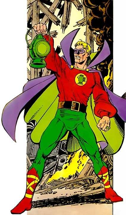 Green Lantern Alan Scott by George Pérez.                                                                                                                                                                                 More