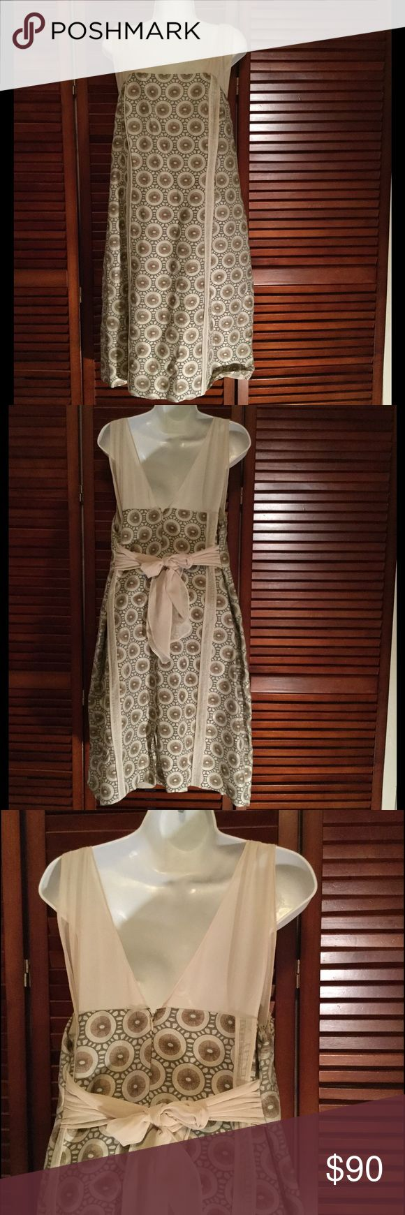 Gold print elegant cocktail dress plus size Beautiful gold print plus size dress. Chiffon straps and bow in back. Fully lined. By designer Isabel Toledo for Lane Bryant. New never been worn no tag Isabel Toledo Dresses