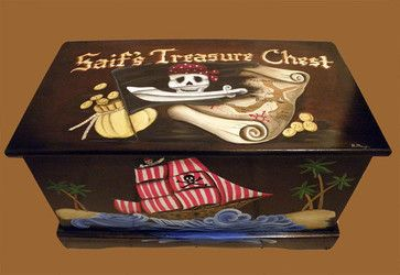 Pirate Toy Box by Originals by Barb Mazur eclectic toy storage