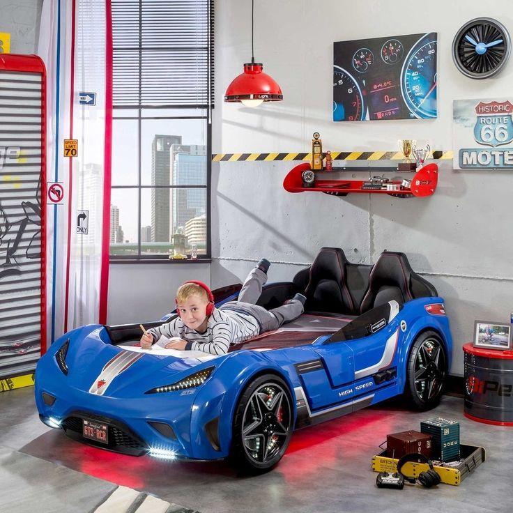 Cilek GTS Twin Race Car Bed en 2020 Camas para niñas
