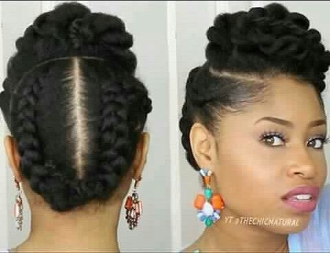 Natural Protective Hairstyles 325 Best Hair Images On Pinterest  Coily Hair Natural Hair And