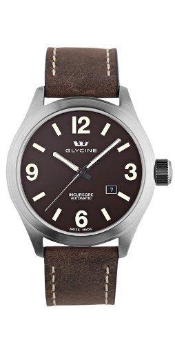 Glycine Incursore III California – Reloj automático (44 mm, esfera color negro, caja mate), correa color marrón   Your #1 Source for Watches...