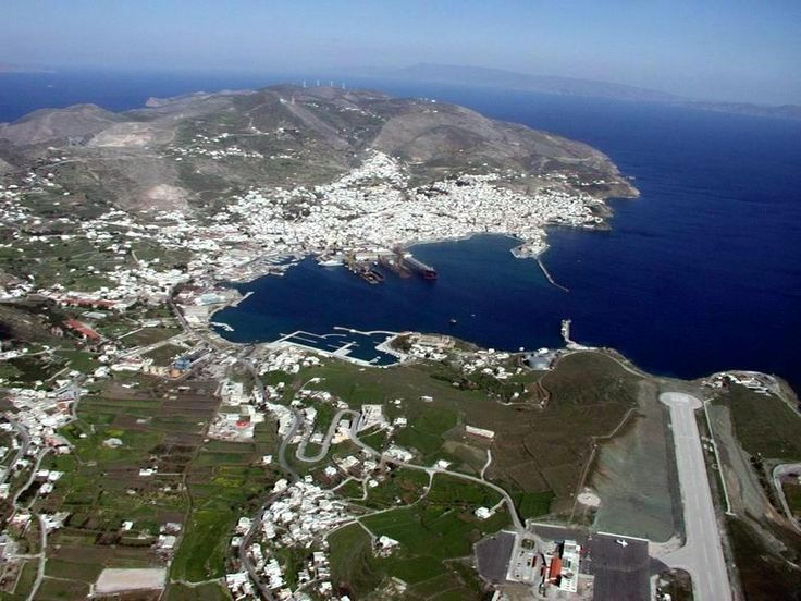 Aeriel view of Ermoupolis port #syros