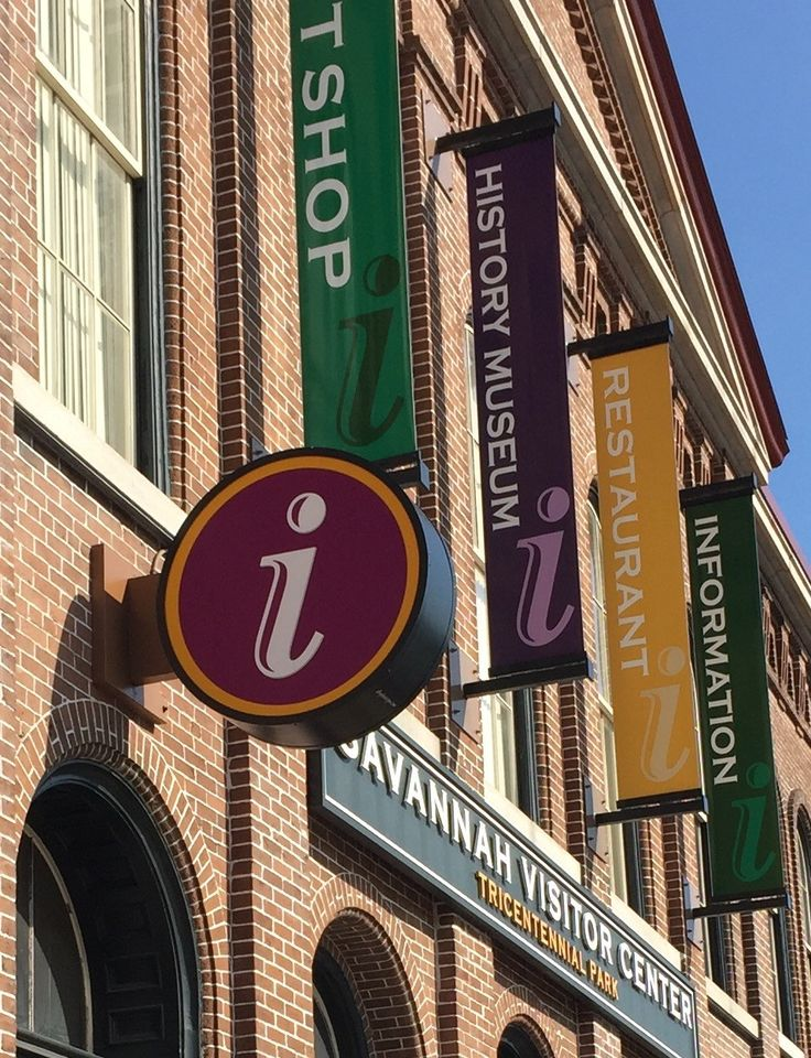 "Everything you want to know about Savannah is at the Main Visitor Center, 301 Martin Luther King. Just keep an eye out for the big ""I."""