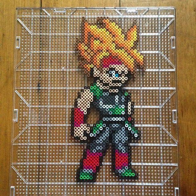 Super Saiyan Bardock - Dragon Ball perler beads by  mastablasta3
