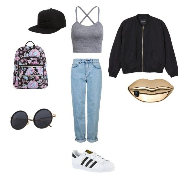 """""""Something different"""" by elmiller95 on Polyvore featuring Topshop, adidas, Monki, Billabong, Vera Bradley and STELLA McCARTNEY"""