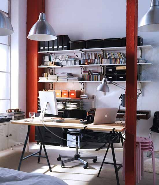 Charmant Great Home Office Using Ikea: Great Design Home Office With IKEA Furniture  ~ 3meia5.