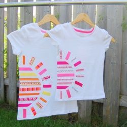 Use scrap ribbons and glue to make this You Are My Sunshine T-shirt. No sewing required!