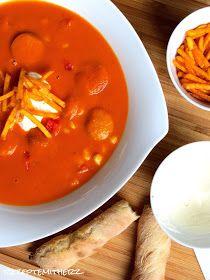 """Rezepte mit Herz ♥: Currywurst - Suppe mit """"Pommes"""""""