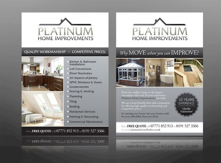 Sample Home Improvement Flyers Info On Paying For House