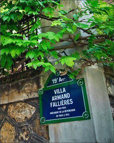La villa Armand-Fallières  (Paris 19ème)
