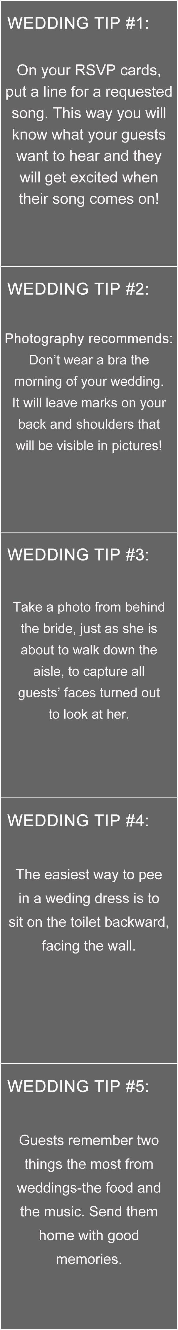 Top 10 Hochzeitstipp-Ideen für Ihren großen Tag