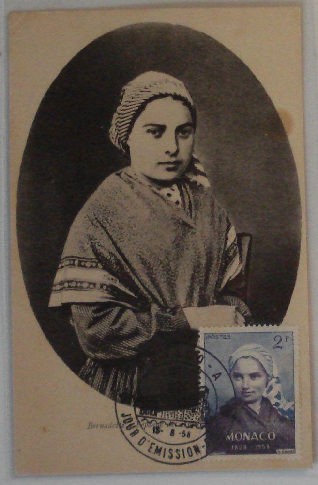 4369 - CARTE MAXIMUM FDC BERNADETTE SOUBIROUS TIMBRE MONACO N° 493 | eBay