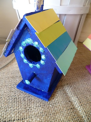 Birdhouse  Craft: Have kids decorate an  house by using unfinished (pre-purchased) birdhouses & an assortment of paints, stickers, & other art supplies.
