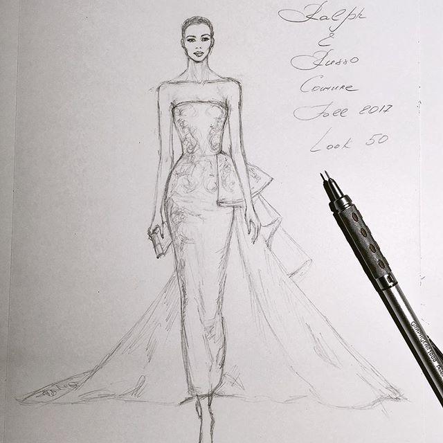 Unfinished #handdrawn #sketch #RalphandRusso #couture #workinprogress #sketching #illustration #иллюстрация #hautecouture #art #worldofartists #luxury #draping #silk #gown #dress #платье #embroidery #event #wedding #nataliazorinliu #artist #illustrator #pentel #fashionista #follow #instafashion #model #pencil #fashionillustration