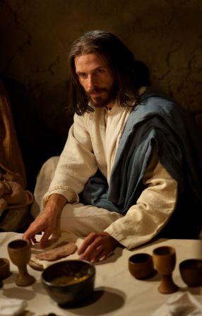 Juan 13:1–35, Cristo sentado en la Última Cena