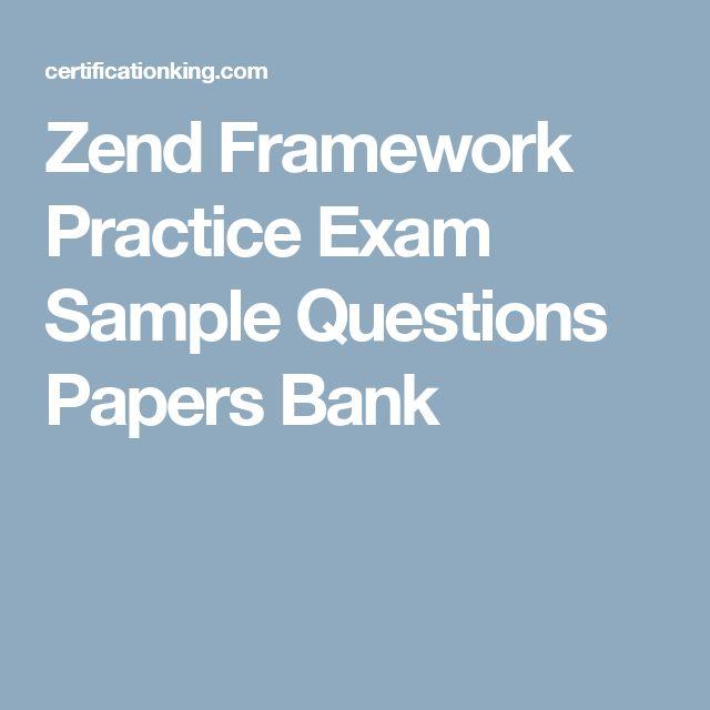 Zend Framework Practice Exam Sample Questions Papers Bank
