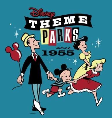 Cool retro Disney theme parks logo. Via Attractions Magazine