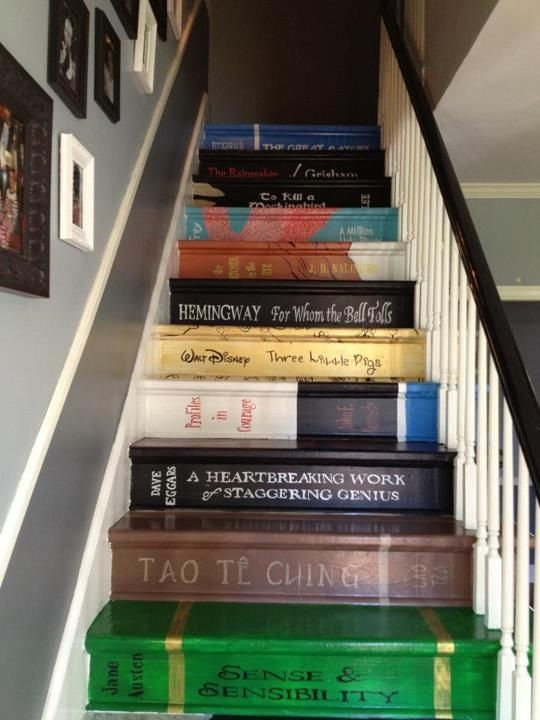 Stairs Painted Like Books Stairs Faux Painted To Look