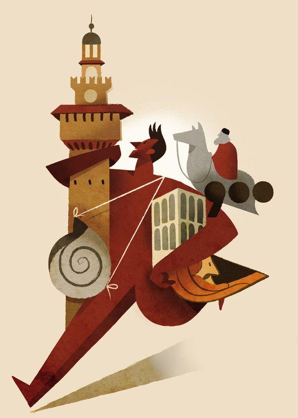 Eni arte aperta by Riccardo Guasco, via Behance #illustration