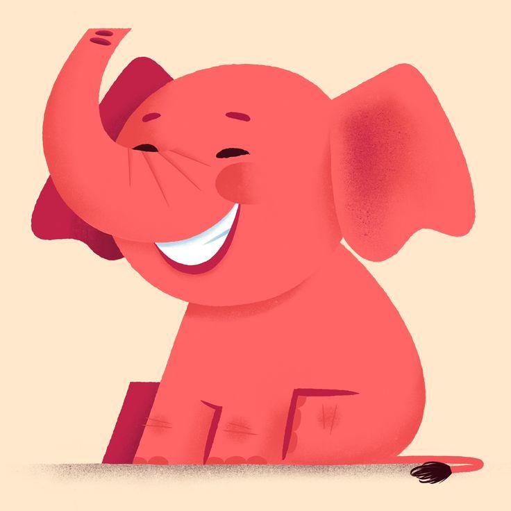 Elephant illustration done in Procreate.