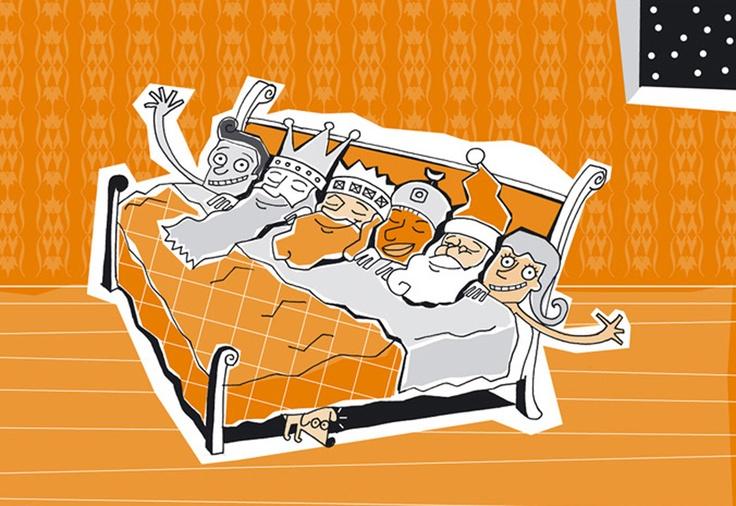 Ilustración para tarjeta de Navidad.