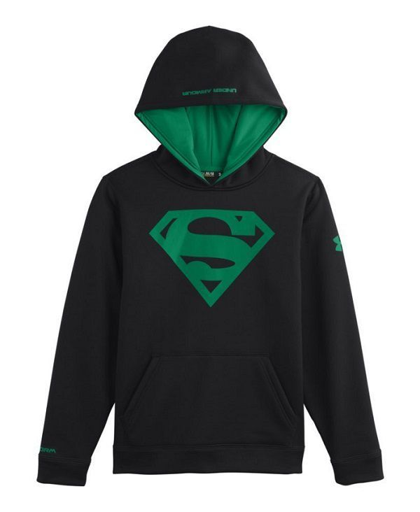 Superman Under Armour Hoodie - Green Logo