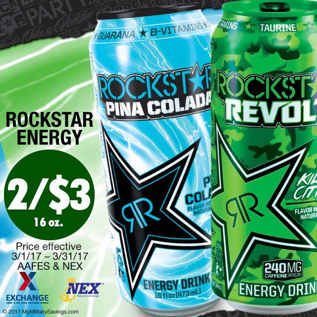 Lucky you! 🍀 Grab these savings on ROCKSTAR Energy Drinks at your local Exchange and Navy Exchange stores this March! Plus, don't miss all the other savings on your fave Pepsi products here: www.pepsimilitary.com