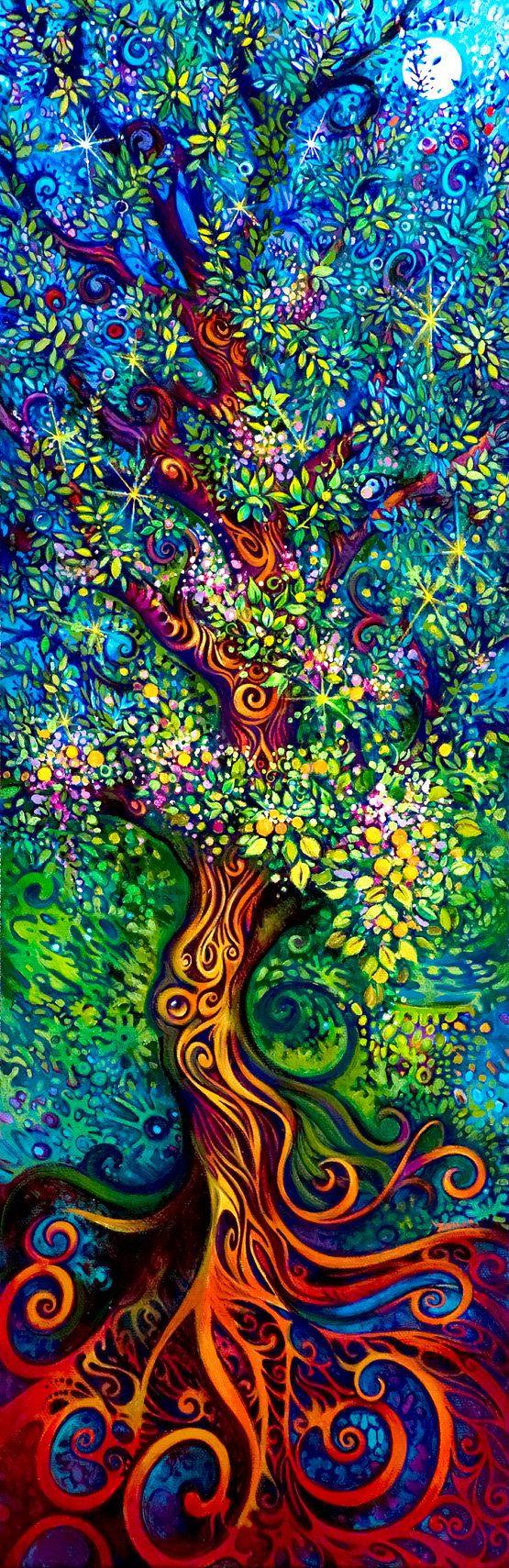 Ursprünglich als esoterische Wissen bewacht, kommt der Baum des Lebens von frühe jüdische Mystik, obwohl es gedacht wird, um eine Verlängerung der assyrischen Theologie. Es ist die Grundlage für das Studium der Kabbala und wurde später Teil des christlichen Glaubens. Für mich stellt es Wachstum und die ständige organische Bewegung des Lebens. Sehen Sie das Chakra-System innerhalb dieses Bild, und es ist im Wesentlichen ein Symbol für was es heißt, Mensch zu sein..., dass unser Wachstum ist…
