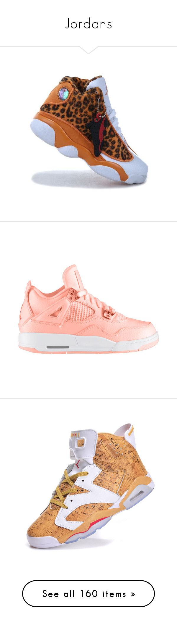 """""""Jordans"""" by prncssmacc ❤ liked on Polyvore featuring shoes, sneakers, jordans, rubber footwear, rubber shoes, nike, spiked shoes, nike shoes, nike footwear and retro style shoes"""