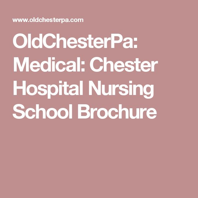 OldChesterPa: Medical: Chester Hospital Nursing School Brochure