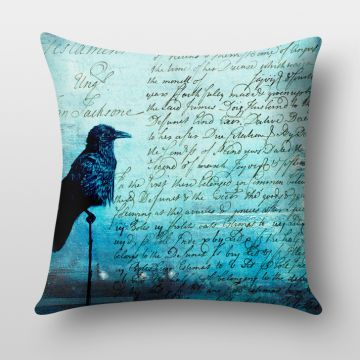 Majesty Art Black Crow Cushion Cover