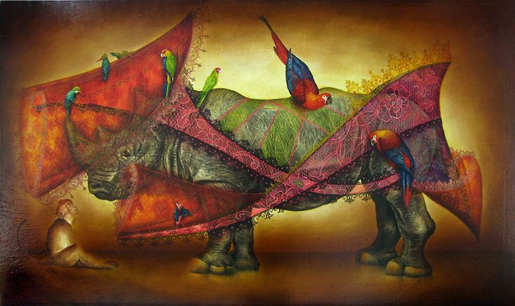 Marc le Rest's whimsical animal paintings