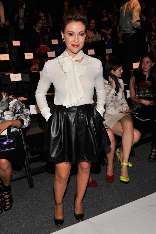 Alyssa Milano - New York Fashion Week Primavera/Verano 2014