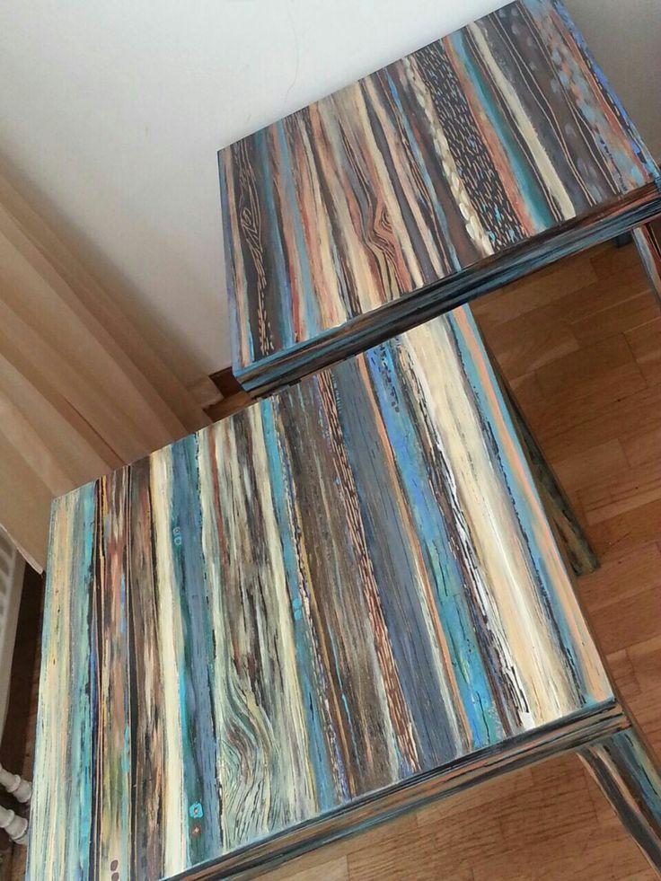 Ikeas idee bord av nadia samavati. پتینه کاری Återvuning art nadia