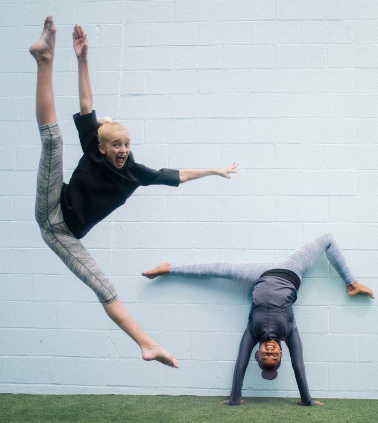 When in doubt, flip, dance, tilt, jump it out.   ivivva