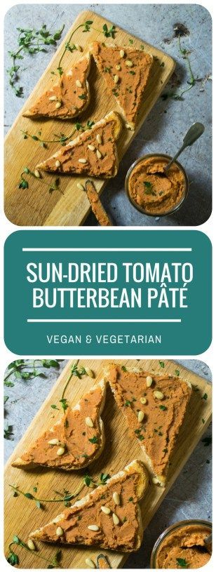This luscious Sun-dried Tomato Butterbean Pate (Vegan) makes a great filling for sandwiches or wraps, with a punchy flavour and packed with protein. So simple to make and keeps well in the fridge. Vegan and Vegetarian